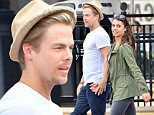 EXCLUSIVE: Derek Hough and his girlfriend Hayley Erbert enjoy themselves while on a date at Disneyland. the couple were seen cuddling up together on the new Luigi's Rockin' roadsters ride and holding hands as they walked through the park. They were also seen riding Goofy's Sky school and even enjoyed corndogs and churros together \n\nPictured: Derek Hough and Hayley Erbert\nRef: SPL1259555  070416   EXCLUSIVE\nPicture by: Fern / Splash News\n\nSplash News and Pictures\nLos Angeles: 310-821-2666\nNew York: 212-619-2666\nLondon: 870-934-2666\nphotodesk@splashnews.com\n
