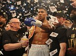 Matchroom Boxing Anthony Joshua v Charles Martin  09/04/16: Picture Kevin Quigley/Daily Mail