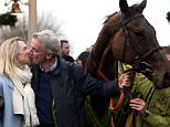 Owner Michael O'Leary with wife Anita Farrell and jockey David Mullins after winning the Crabbie's Grand National Chase with Rule The World during Grand National Day of the Crabbie's Grand National Festival at Aintree Racecourse, Liverpool. PRESS ASSOCIATION Photo. Picture date: Saturday April 9, 2016. See PA story RACING National. Photo credit should read: David Davies/PA Wire