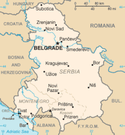 Serbia and Montenegro map from CIA World Factbook, circa 2005.png