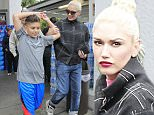 Picture Shows: Gwen Stefani  April 09, 2016\n \n Singer Gwen Stefani was seen taking her two boys, Kingston and Zuma, out for a shopping trip to Bristol Farms in Los Angeles, California. Gwen was looking stylish in a checked jacket, denim jeans and polka dot high tops.\n \n Non Exclusive\n UK RIGHTS ONLY\n \n Pictures by : FameFlynet UK © 2016\n Tel : +44 (0)20 3551 5049\n Email : info@fameflynet.uk.com