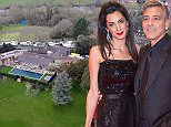 Picture Shows: General View / GV  8th April 2016\n \n * Min Web / Online Fee £250 For Set *\n \n Its finally Finished!\n \n Amal and George Clooney's home renovations in Sonning-on-Thames, Berkshire has reached completion. \n \n Aerial pictures show the plush property in the heart of the Oxfordshire Countryside.\n George Clooney and his barrister wife, Amal, live in a 17th Century Grade II listed mansion on the banks of the Thames.\n \n George Clooney and Amal are rumoured to be spending most of their free time together at the idyllic mansion. \n \n A new tennis court can be seen aswell as a riverside summer house with deck chairs in place already. Security around the property is tight, with cameras and trip sensors clearly visible but if the love birds want to fly their nest they haven't far to go to cut loose; two beautiful pubs are within walking distance, while a quint tearoom sits next to the lock on the river or they could have a stroll to the local church.\n \n * Min Web / Onli