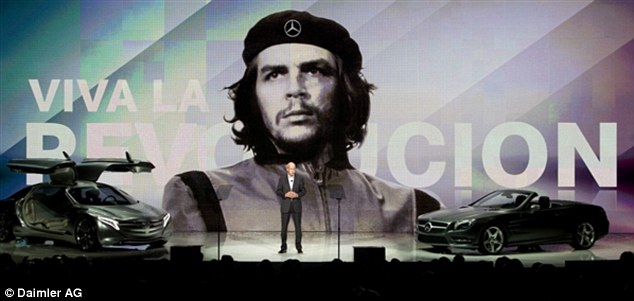 Viva la revolucion: Mercedes Benz used an iconic image of Marxist revolutionary leader Che Guevara to promote a new ride-share initiative