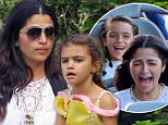 EXCLUSIVE: Camila Alves takes her three children on a fun Disney day. the family were joined by a group of friends and were seen having fun through the park watching parades and riding the matterhorn. the group also spent some time in Bippity Boppity Boutique where the girls enjoyed a little bit of time getting their hair and nails done, while little levi got some glitter on his hair. Levi was dressed as woody from toy story\n\nPictured: Camila Alves, Levi McConaughey, Vida McConaughey, Livingston McConaughey\nRef: SPL1259515  070416   EXCLUSIVE\nPicture by: Boggs / Splash News\n\nSplash News and Pictures\nLos Angeles: 310-821-2666\nNew York: 212-619-2666\nLondon: 870-934-2666\nphotodesk@splashnews.com\n