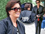 *EXCLUSIVE* Calabasas, CA - Kris Jenner was spotted grabbing some sushi for lunch near her home. The momager was just in Colorado with her children, sans Rob Kardashian, for a quick snowy getaway. The matriarch was dressed head to toe in black, perfect for a gloomy rainy day. She wore a Yeezus tour bomber, and a pair of Yeezy 750 Boosts. Kris' only son, Rob, got engaged to girlfriend Blac Chyna, and there is no word yet on what she or the rest of the Kardashians sisters think about it just yet. \nAKM-GSI      April 9, 2016\nTo License These Photos, Please Contact :\nSteve Ginsburg\n(310) 505-8447\n(323) 423-9397\nsteve@akmgsi.com\nsales@akmgsi.com\nor\nMaria Buda\n(917) 242-1505\nmbuda@akmgsi.com\nginsburgspalyinc@gmail.com
