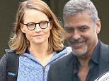 Exclusive... 52017758 Director and actress Jodie Foster was spotted with George Clooney in Los Angeles, California on April 8, 2016.  George is starring in Jodie's new film 'Money Monster' along with Julia Roberts. FameFlynet, Inc - Beverly Hills, CA, USA - +1 (310) 505-9876