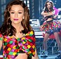 Glad to be back: Cher Lloyd looks excited but nervous as she returns to the X Factor stage a year later to perform her new single