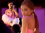 BURBANK, CALIFORNIA - APRIL 09:  Singer Ariana Grande performs onstage during the 2016 MTV Movie Awards at Warner Bros. Studios on April 9, 2016 in Burbank, California.  MTV Movie Awards airs April 10, 2016 at 8pm ET/PT.  (Photo by Kevin Mazur/WireImage for MTV)