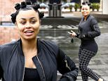 Picture Shows: Blac Chyna  April 08, 2016\n \n Recently engaged Blac Chyna stops by McDonalds before visiting an office building in Beverly Hills, California. Blac was looking casual in a black bomber jacket and checked leggings.\n \n Non Exclusive\n UK RIGHTS ONLY\n \n Pictures by : FameFlynet UK © 2016\n Tel : +44 (0)20 3551 5049\n Email : info@fameflynet.uk.com