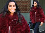 Padma Lakshmi heads out in cranberry fur this afternoon in New York\n\nPictured: Padma Lakshmi\nRef: SPL1257485  050416  \nPicture by: Splash News\n\nSplash News and Pictures\nLos Angeles: 310-821-2666\nNew York: 212-619-2666\nLondon: 870-934-2666\nphotodesk@splashnews.com\n
