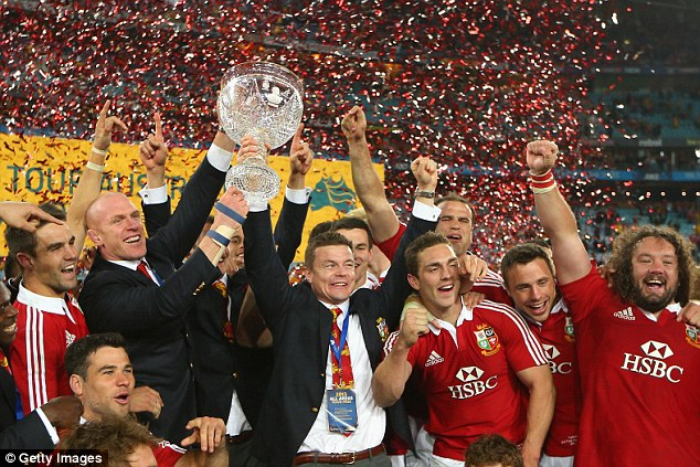 Historic: The Lions won their first series in 16 years when they beat Australia 2-1