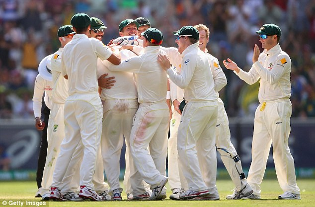 Disaster: England relinquished their Ashes urn after being battered by Australia