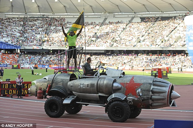 Stars and their cars: Usain Bolt was back at the Olympic Stadium one year after his London 2012 heroics