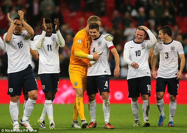 Road to Rio: England qualified for the 2014 World Cup in Brazil by beating Poland at Wembley