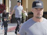 Picture Shows: Axl Duhamel, Josh Duhamel  April 10, 2016\n \n Actor Josh Duhamel takes his son Axl Duhamel to breakfast in Brentwood, California. Axl was seen looking cute while playing with a football.\n \n Exclusive All Rounder\n UK RIGHTS ONLY\n Pictures by : FameFlynet UK © 2016\n Tel : +44 (0)20 3551 5049\n Email : info@fameflynet.uk.com