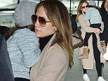 11.April.2016 - London - UK Actress and singer Jennifer Lopez flies out of Heathrow Airport on her way to Los Angeles BYLINE MUST READ : XPOSUREPHOTOS.COM ***UK CLIENTS - PICTURES CONTAINING CHILDREN PLEASE PIXELATE FACE PRIOR TO PUBLICATION*** UK CLIENTS MUST CALL PRIOR TO TV OR ONLINE USAGE PLEASE TELEPHONE 0208 344 2007