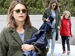 New York, NY - Expecting mother Keri Russell walks hand in hand to school with her son River Deary, on a beautiful Monday morning keeping her growing baby bump covered with a winter coat.\n                                                         \nAKM-GSI          April 11, 2016\nTo License These Photos, Please Contact :\nSteve Ginsburg\n(310) 505-8447\n(323) 423-9397\nsteve@akmgsi.com\nsales@akmgsi.com\nor\nMaria Buda\n(917) 242-1505\nmbuda@akmgsi.com\nginsburgspalyinc@gmail.com