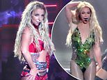 Please contact X17 before any use of these exclusive photos - x17@x17agency.com   Britney Spears electrifies with her incredible energy in new numbers and new costumes for her 'Pieces of Me' show at Planet Hollywood in Las Vegas. Saturday, April 9, 2016 X17online.com PREMIUM EXCLUSIVE