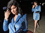 Los Angeles, CA - Kylie Jenner dazzles in a blue velvet jacket dress and silver gladiator high heel sandals as she arrives at The Nice Guy.\nAKM-GSI         April 11, 2016\nTo License These Photos, Please Contact :\nSteve Ginsburg\n(310) 505-8447\n(323) 423-9397\nsteve@akmgsi.com\nsales@akmgsi.com\nor\nMaria Buda\n(917) 242-1505\nmbuda@akmgsi.com\nginsburgspalyinc@gmail.com
