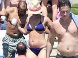 Exclusive... 52019204 'Wish I Was Here' actor Zach Braff chills at the pool with friends in Cabo, Mexico on April 8, 2016 to celebrate his 41st birthday, which was on April 6. Among the attendees was Braff's fomer 'Scrubs' co-star and real-life buddy Donald Faison, and Faison's wife CaCee Cobb, who showed off her bikini body as she soaked up some rays. The bro-mance between Braff and Faison is still evidently strong, as the two of them posted pictures of some serious bro-on-bro cuddling on Instagram. ***NO WEB USE W/O PRIOR AGREEMENT - CALL FOR PRICING*** FameFlynet, Inc - Beverly Hills, CA, USA - +1 (310) 505-9876
