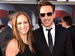 """LOS ANGELES, CALIFORNIA - APRIL 12:  Producer Susan Downey (L) and actor Robert Downey Jr. attend the premiere of Marvel's """"Captain America: Civil War"""" at Dolby Theatre on April 12, 2016 in Los Angeles, California.  (Photo by Kevin Winter/Getty Images)"""