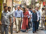 The Duke and Duchess of Cambridge arriving for a visit to a children's centre run by the charity Salaam Baalak, which provides emergency help and long term support to homeless children at New Delhi railway station, on day three of the Royal visit to India and Bhutan. PRESS ASSOCIATION Photo. Picture date: Tuesday April 12, 2016. See PA story ROYAL India. Photo credit should read: Dominic Lipinski/PA Wire