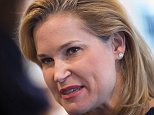 STURTEVANT, WI - MARCH 23:  Heidi Cruz, the wife of Republican presidential candidate Sen. Ted Cruz (R-TX), speaks to guests during a campaign stop at a Culver's restaurant on March 23, 2016 in Sturtevant, Wisconsin. Voters in Wisconsin will vote in the state's primary election on April 5.  (Photo by Scott Olson/Getty Images)