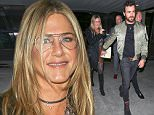 08 April 2016 - Beverly Hills, CA  - USA\n**STRICTLY AVAILABLE FOR UK AND GERMANY USE ONLY**\n*STRICTLY NO WEB USAGE UNTIL FURTHER NOTICE*\n*PREMIUM EXCLUSIVE - MUST CALL FOR PRICING* \n Jennifer Aniston and husband Justin Theroux  enjoy a romantic date night out at The Palm restaurant in Beverly Hills. Jennifer has a huge smile on her face as she leaves with her man. Justin reaches back for her, and they hold hands as they head to the car. Jennifer is wearing a suede button up camel skirt and a floral blouse paired with a black coat and knee high boots.\nBYLINE MUST READ : AKM-GSI-XPOSURE\n***UK CLIENTS - PICTURES CONTAINING CHILDREN PLEASE PIXELATE FACE PRIOR TO PUBLICATION ***\n*UK CLIENTS MUST CALL PRIOR TO TV OR ONLINE USAGE PLEASE TELEPHONE 0208 344 2007*\n