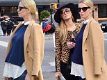 New York, NY - Paris Hilton and a pregnant Nicky Hilton step out in Soho. The fashionista sisters compliment each other while bringing their own sense of style to their looks for the day. Nicky is wearing skinny jeans and a button up blouse layered with a navy blue sweater and camel coat for a tailored neutral look. Parisí look is more daring as she dons matching leopard print jacket and ankle boots paired with a monochrome ensemble and wide brim hat. \n  \nAKM-GSI        April 11, 2016\nTo License These Photos, Please Contact :\nSteve Ginsburg\n(310) 505-8447\n(323) 423-9397\nsteve@akmgsi.com\nsales@akmgsi.com\nor\nMaria Buda\n(917) 242-1505\nmbuda@akmgsi.com\nginsburgspalyinc@gmail.com