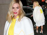 Alice Eve wears a colorful outfit at GMA in NYC  Pictured: Alice Eve Ref: SPL1262379  120416   Picture by: Jackson Lee / Splash News  Splash News and Pictures Los Angeles: 310-821-2666 New York: 212-619-2666 London: 870-934-2666 photodesk@splashnews.com
