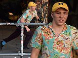 EXCLUSIVE: Rocco Ritchie enjoys a casual afternoon skateboarding with friends at the iconic Southbank skate spot, frequented by skaters from all over the country. Rocco spent just as much time eyeing up passing women as he did on his skateboard, and flashed his trademark smile, as he mingled happily with other teenagers. He was dressed in a yellow baseball cap, his purple jeans, and a rather outlandish Hawaiian shirt. Rocco's baseball cap was from the University of Michigan, where mother Madonna attended.\nPhotos taken on April 12th 2016\n\nPictured: Rocco Ritchie\nRef: SPL1260990  130416   EXCLUSIVE\nPicture by: Squirrel/Eagle Lee/Splash News\n\nSplash News and Pictures\nLos Angeles: 310-821-2666\nNew York: 212-619-2666\nLondon: 870-934-2666\nphotodesk@splashnews.com\n