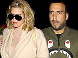 10 April 2016 - West Hollywood, CA - USA **STRICTLY AVAILABLE FOR UK AND GERMANY USE ONLY** *PREMIUM EXCLUSIVE - MUST CALL FOR PRICING* Khloe Kardashian reunited with her on-again, off-again boyfriend French Montana at Hyde Sunset Sunday night. Khloe's date night comes after the cancellation of her show 'Kocktails with Khloe' and tonight's cryptic Instagram post about 'Letting Go'. She posted, 'Letting go doesn't mean that you don't care about someone anymore. It's just realizing that the only person you really have control over is yourself. Khloe covered up in a beige robe and sunglasses. She got a helping hand from security and followed French into the club. BYLINE MUST READ : AKM-GSI-XPOSURE ***UK CLIENTS - PICTURES CONTAINING CHILDREN PLEASE PIXELATE FACE PRIOR TO PUBLICATION *** *UK CLIENTS MUST CALL PRIOR TO TV OR ONLINE USAGE PLEASE TELEPHONE 0208 344 2007*