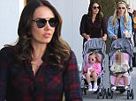 Beverly Hills, CA - Famous sisters, Petra Ecclestone and Tamara Ecclestone, reunite for shopping day in Beverly Hills after Tamara landed in L.A. the previous day.  The two sisters were seen chatting up a storm as they pushed their daughters, Lavinia Stunt and Sophia Ecclestone-Rutland, as their bodyguards kept a watchful eye. AKM-GSI          February 19, 2016 To License These Photos, Please Contact : Steve Ginsburg (310) 505-8447 (323) 423-9397 steve@akmgsi.com sales@akmgsi.com or Maria Buda (917) 242-1505 mbuda@akmgsi.com ginsburgspalyinc@gmail.com