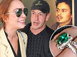 13.April.2016 - New York Ò USA *** STRICTLY AVAILABLE FOR UK AND GERMANY USE ONLY *** New York, NY - In light of engagement rumors to Egor Tarabasov it looks like Lindsay Lohan and her father Michael Lohan are working on mending their rocky father daughter relationship. The trio were seen out in New York.  BYLINE MUST READ : AKM-GSI-XPOSURE ***UK CLIENTS - PICTURES CONTAINING CHILDREN PLEASE PIXELATE FACE PRIOR TO PUBLICATION *** *UK CLIENTS MUST CALL PRIOR TO TV OR ONLINE USAGE PLEASE TELEPHONE 0208 344 2007*