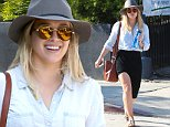 West Hollywood, CA - Hilary Duff goes to brunch with a friend in Weho. The 28-year-old singer is in a good mood as she waves to cameras as they walk inside. Hilary is wearing an asymmetrical black skirt paired with a chambray button up. She accessorizes with a brown handbag, studded sandals, and a wide brim hat. \n  \nAKM-GSI       April 13, 2016\nTo License These Photos, Please Contact :\nSteve Ginsburg\n(310) 505-8447\n(323) 423-9397\nsteve@akmgsi.com\nsales@akmgsi.com\nor\nMaria Buda\n(917) 242-1505\nmbuda@akmgsi.com\nginsburgspalyinc@gmail.com