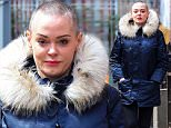 "Picture Shows: Rose McGowan  April 12, 2016\n \n Rose McGowan is spotted taking a walk in New York City, New York. The actress is rocking the shaved head look, which she calls ""liberating"".\n \n Non-Exclusive\n UK RIGHTS ONLY\n \n Pictures by : FameFlynet UK © 2016\n Tel : +44 (0)20 3551 5049\n Email : info@fameflynet.uk.com"