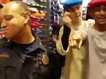 Houston Police Department\nApril 9 at 9:33am · \nHPD Officer Moore shows off his dancing skills with Justin Bieber.\nAs an HPD officer, you never know who you'll meet!\nThank you to Prison Break Tattoos for the video.