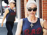 """EXCLUSIVE: Gwen Stefani wears an 80's inspired shirt that reads """"RAD"""" while heading to an Anti-Aging salon in West Hollywood on Tuesday afternoon.\n\nPictured: Gwen Stefani wears an 80's inspired shirt that reads """"RAD"""" while heading to an Anti-Aging salon in West Hollywood on Tuesday afternoon.\nRef: SPL1261762  120416   EXCLUSIVE\nPicture by: Interstar/Splash News\n\nSplash News and Pictures\nLos Angeles: 310-821-2666\nNew York: 212-619-2666\nLondon: 870-934-2666\nphotodesk@splashnews.com\n"""