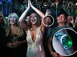 Lindsay Lohan at DURAN DURAN concert. Lindsay Lohan was accompanied by her sister Ali, mom Dina and father Michael, singing into DURAN DURAN tunes during their Tuesday evening concert at Barclays Center in Brooklyn, NYC. Lindsay Lohan (29) and her Russian boyfirend Egor Tarabasov (22) just got engaged over the weekend.   Pictured: Lindsay Lohan at DURAN DURAN concert Ref: SPL1260911  120416   Picture by: Paul Martinka / Splash News  Splash News and Pictures Los Angeles: 310-821-2666 New York: 212-619-2666 London: 870-934-2666 photodesk@splashnews.com