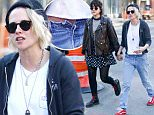 April 12, 2016: Kristen Stewart and girlfriend Soko Sokolinski seen holding hands while out and about in New York City.\nMandatory Credit: Dara Kushner/INFphoto.com      Ref.: infusny-05/42