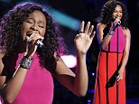 """THE VOICE -- """"Live Playoffs"""" Episode 1012B -- Pictured: Shalyah Fearing -- (Photo by: Tyler Golden/NBC/NBCU Photo Bank via Getty Images)"""