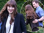 11 April 2016 - Vancouver, BC - Canada **STRICTLY AVAILABLE FOR UK AND GERMANY USE ONLY** Jamie Dornan, Dakota Johnson shoot their first 50 Shades Darker scene as Mr and Mrs Grey in Vancouver, BC Canada. The scene consisted of Jamie throwing Dakota a set of keys for a new Audi 8 car wedding present. BYLINE MUST READ : AKM-GSI-XPOSURE ***UK CLIENTS - PICTURES CONTAINING CHILDREN PLEASE PIXELATE FACE PRIOR TO PUBLICATION *** *UK CLIENTS MUST CALL PRIOR TO TV OR ONLINE USAGE PLEASE TELEPHONE 0208 344 2007*