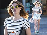 12 April 2016 - Beverly Hills, CA - USA **STRICTLY AVAILABLE FOR UK AND GERMANY USE ONLY** *EXCLUSIVE ALL ROUND PICTURES*  Ashley Greene displays her long legs as she visits her local pharmacy wearing a striped tee with Daisy Dukes and Under Armour sneakers. BYLINE MUST READ : AKM-GSI-XPOSURE ***UK CLIENTS - PICTURES CONTAINING CHILDREN PLEASE PIXELATE FACE PRIOR TO PUBLICATION *** *UK CLIENTS MUST CALL PRIOR TO TV OR ONLINE USAGE PLEASE TELEPHONE 0208 344 2007*