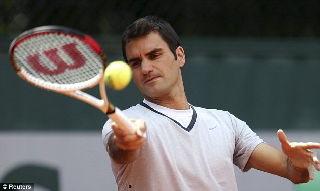 Streak: Roger Federer will play in his 54th consecutive grand slam at the French Open