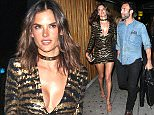 Alessandra Ambrosio And Jamie Mazur Arrive At The Nice Guy Club To Celebrate Her 35th Birthday Party in West Hollywood  Pictured: Alessandra Ambrosio And Jamie Mazur Ref: SPL1263606  130416   Picture by: Photographer Group / Splash News  Splash News and Pictures Los Angeles: 310-821-2666 New York: 212-619-2666 London: 870-934-2666 photodesk@splashnews.com