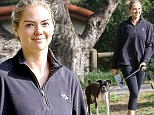 *EXCLUSIVE* Beverly Hills, CA - A makeup free Kate Upton takes her dog Harley on a morning walk in Beverly Hills with a friend. She looks flawless with a fresh face.  \n  \nAKM-GSI      April 14, 2016\nTo License These Photos, Please Contact :\nSteve Ginsburg\n(310) 505-8447\n(323) 423-9397\nsteve@akmgsi.com\nsales@akmgsi.com\nor\nMaria Buda\n(917) 242-1505\nmbuda@akmgsi.com\nginsburgspalyinc@gmail.com
