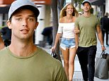 *EXCLUSIVE* Beverly Hills, CA - Patrick Schwarzenegger and Abby Champion walk arm in arm after some shopping at AllSaints in Beverly Hills. The picture perfect model duo smiled as they passed the cameras on the way to their car with their shopping bags.\nAKM-GSI   April  14, 2016\n \nTo License These Photos, Please Contact :\n \n Steve Ginsburg\n (310) 505-8447\n (323) 423-9397\n steve@akmgsi.com\n sales@akmgsi.com\n \n or\n \n Maria Buda\n (917) 242-1505\n mbuda@akmgsi.com\n ginsburgspalyinc@gmail.com