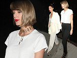 Taylor Swift and Lily Aldridge arrive at The Nice Guy Club to Celebrate Alessandra Ambrosio 35th Birthday Party  Pictured: Taylor Swift And Lily Aldridge Ref: SPL1263648  130416   Picture by: Photographer Group / Splash News  Splash News and Pictures Los Angeles: 310-821-2666 New York: 212-619-2666 London: 870-934-2666 photodesk@splashnews.com
