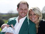 US Masters winner Danny Willett, his wife Nicole and son Zachariah James during a photocall at Lindrick Golf Club, Worksop. PRESS ASSOCIATION Photo. Picture date: Wednesday April 13, 2016. See PA story GOLF Masters. Photo credit should read: Peter Byrne/PA Wire