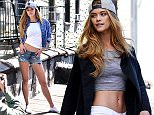 BROOKLYN, NY - APRIL 13:  Nina Agdal shoots New Era Cap MLB Campaign on April 13, 2016 in Brooklyn, New York.  (Photo by Bryan Bedder/Getty Images for New Era)